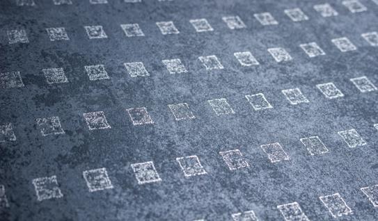 Grafik Tapete Atlas ICO-1705-4 Vliestapete glatt mit abstraktem Muster schimmernd grau tauben-blau silber 5, 33 m2 - Vorschau 2