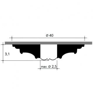 Deckenrosette Stuck Orac Decor R61 LUXXUS Rosette Stuck Zierrosette Wand Dekor Element stoßfest | 40 cm Durchmesser - Vorschau 2