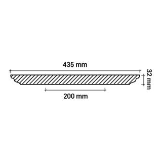 Rosette PROFHOME 156004 Deckenelement Zierelement Neo-Empire-Stil weiß Ø 43, 5 cm - Vorschau 3
