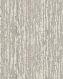 Streifen Tapete Profhome DE120082-DI heißgeprägte Vliestapete geprägt mit Streifen glänzend creme weiß 5, 33 m2