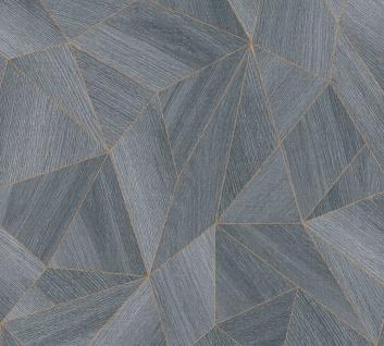 Grafik Tapete Profhome 361333-GU Vliestapete glatt mit grafischem Muster matt grau schwarz 5, 33 m2