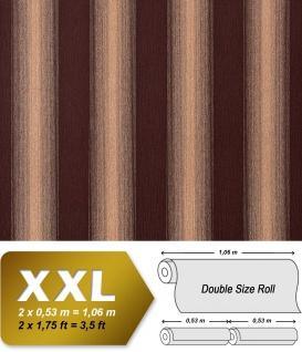 Streifen Tapete XXL Vliestapete EDEM 931-36 Heißgepägte elegante Blockstreifen Luxus Design Tapete braun beige gold glitzer 10, 65 m2