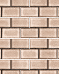 Grafik Tapete Profhome BA220105-DI heißgeprägte Vliestapete geprägt mit geometrischen Formen glänzend braun beige-braun weiß 5, 33 m2