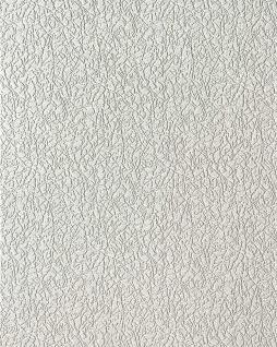 Uni Tapete EDEM 206-40 Dekorative Vinyl-Schaum-Tapete weiß crash putz optik 7, 95 qm - 15 Meter Rolle