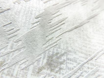 Spachtel Putz Tapete ATLAS HER-5130-3 Vliestapete geprägt im Landhaus-Stil schimmernd beige perl-weiß perl-hell-grau 7, 035 m2 - Vorschau 2