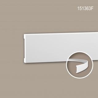 Wand- und Friesleiste PROFHOME 151363F Stuckleiste Flexible Leiste Zierleiste Modernes Design weiß 2 m