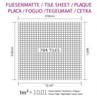 Mosaik Fliese massiv Metall Edelstahl marine gebürstet in gau 1, 6mm stark ALLOY Glomesh-S-S-MB 1, 07 m2 - Vorschau 4