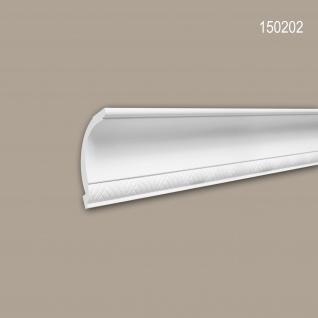 Eckleiste PROFHOME 150202 Zierleiste Stuckleiste Modernes Design weiß 2 m