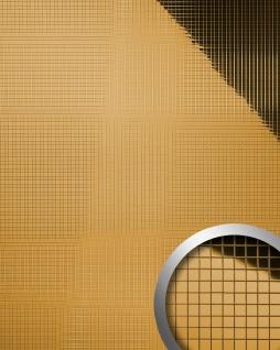 Wandpaneel Wandverkleidung WallFace 10598 M-Style Design Metall Mosaik Dekor selbstklebend spiegelnd gold 0, 96 qm