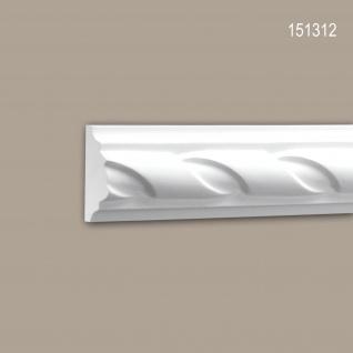 Wand- und Friesleiste PROFHOME 151312 Stuckleiste Zierleiste Wandleiste Neo-Empire-Stil weiß 2 m