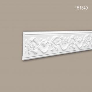 Wand- und Friesleiste PROFHOME 151349 Stuckleiste Zierleiste Wandleiste Neo-Renaissance-Stil weiß 2 m
