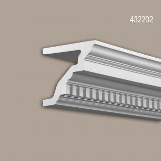 Eckleiste 432202 Profhome Fassadenprofil Zierleiste Stuckleiste Zeitloses Klassisches Design weiß 2 m