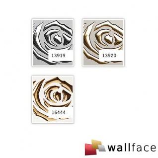 Dekorpaneel Rosen Dekor Blumen Design WallFace 16444 3D ROSE Paneel selbstklebend gold perlweiß | 2, 60 qm - Vorschau 2