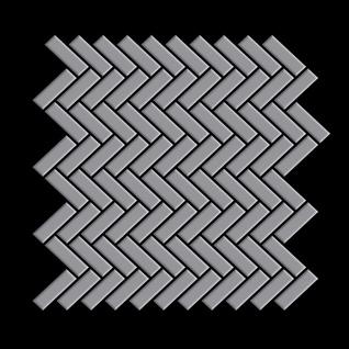 Mosaik Fliese massiv Metall Edelstahl matt in grau 1, 6mm stark ALLOY Herringbone-S-S-MA 0, 85 m2 - Vorschau 3