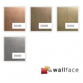 Wandpaneel Metalloptik WallFace 20201 SLIGHTLY USED Gold AR Wandverkleidung glatt im Used Look gebürstet selbstklebend abriebfest gold braun-beige 2, 6 m2 - Vorschau 3