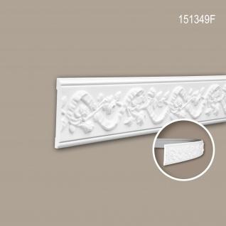 Wand- und Friesleiste PROFHOME 151349F Stuckleiste Flexible Leiste Zierleiste Neo-Renaissance-Stil weiß 2 m