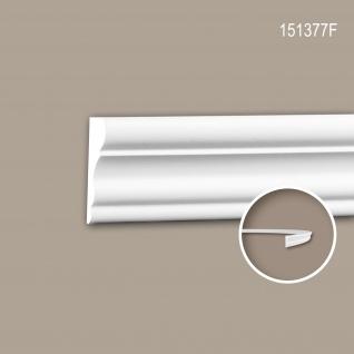 Wand- und Friesleiste PROFHOME 151377F Stuckleiste Flexible Leiste Zierleiste Neo-Klassizismus-Stil weiß 2 m
