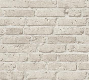 Stein Kacheln Tapete Profhome 355813-GU Vliestapete leicht strukturiert mit Natur-Mustern matt grau 5, 33 m2