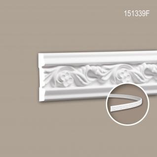 Wand- und Friesleiste PROFHOME 151339F Stuckleiste Flexible Leiste Zierleiste Rokoko Barock Stil weiß 2 m