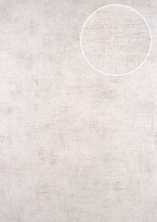 Uni Tapete ATLAS CLA-598-2 Vliestapete glatt im Used Look schimmernd silber perl-beige grau-beige 5, 33 m2