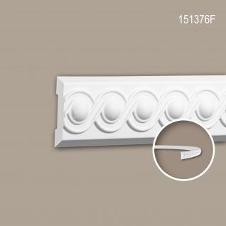 Wand- und Friesleiste PROFHOME 151376F Stuckleiste Flexible Leiste Zierleiste Neo-Klassizismus-Stil weiß 2 m
