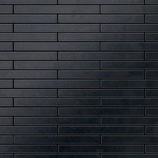 Mosaik Fliese massiv Metall Rohstahl gewalzt in grau 1, 6mm stark ALLOY Avenue-RS 0, 74 m2