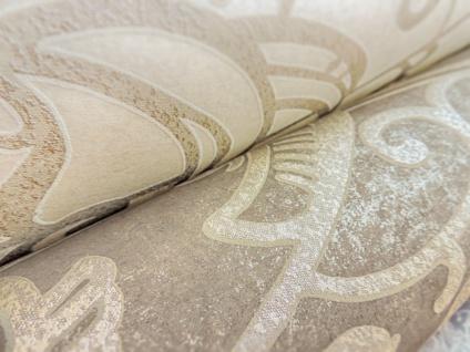 Barock Tapete ATLAS CLA-597-9 Vliestapete geprägt mit grafischem Muster glänzend braun perl-gold braun-grau 5, 33 m2 - Vorschau 3
