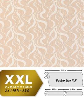 Grafik Tapete Vliestapete EDEM 699-93 XXL Designer Streifen kreative Wellen Linien braun-beige natur-weiß 10, 65 qm