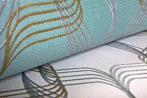 Grafik-Tapete EDEM 507-20 Designer Tapete strukturiert mit abstraktem Muster und metallischen Akzenten signal-weiß perl-gold silber 5, 33 m2 - Vorschau 5