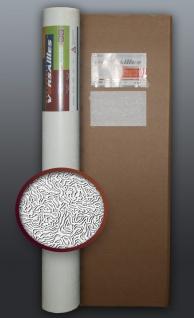 EDEM 80333BR60-4 1 Kart 4 Rollen überstreichbare Vliestapete kreative optik-struktur weiß 106 qm
