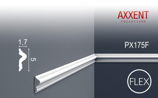 Wand- und Friesleiste Orac Decor PX175F AXXENT flexible Zierleiste Stuckleiste Modernes Design weiß 2m