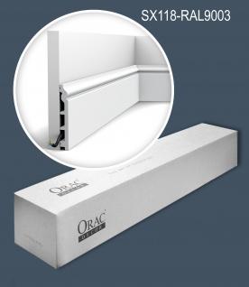Orac Decor SX118-RAL9003-box LUXXUS 1 Karton SET mit 12 Sockelleisten Profilleisten bereits lackiert 24 m