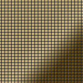 Mosaik Fliese massiv Metall Titan hochglänzend in gold 1, 6mm stark ALLOY Glomesh-Ti-GM 1, 07 m2