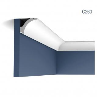 Eckleiste Orac Decor C260 LUXXUS Zierleiste Stuck Zierleiste Decken Stuckgesims Wand Dekor Profil Dekorleiste 2 Meter