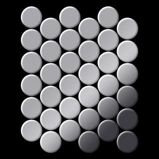 Mosaik Fliese massiv Metall Edelstahl hochglänzend in grau 1, 6mm stark ALLOY Dome-S-S-M 0, 73 m2 - Vorschau 3