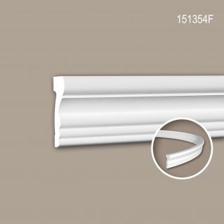 Wand- und Friesleiste PROFHOME 151354F Stuckleiste Flexible Leiste Zierleiste Neo-Klassizismus-Stil weiß 2 m