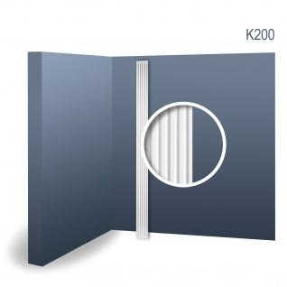 Pilaster Stuck Orac Dekor K200 LUXXUS Schaft Stuck Wand Dekor Element Material Hartschaum leicht und stabil weiß 2 Meter