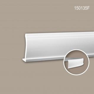 Eckleiste PROFHOME 150135F Zierleiste Flexible Leiste Stuckleiste Modernes Design weiß 2 m