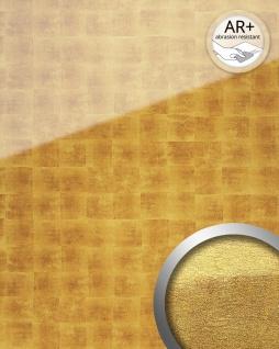Wandverkleidung abriebfest selbstklebend gold beige WallFace 17840 LUXURY Wandpaneel Glas-Optik Cubes-Muster 2, 60 qm