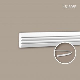 Wand- und Friesleiste PROFHOME 151306F Stuckleiste Flexible Leiste Zierleiste Neo-Klassizismus-Stil weiß 2 m