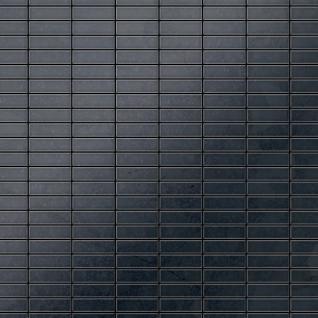Mosaik Fliese massiv Metall Rohstahl gewalzt in grau 1, 6mm stark ALLOY Cabin-RS 1, 01 m2