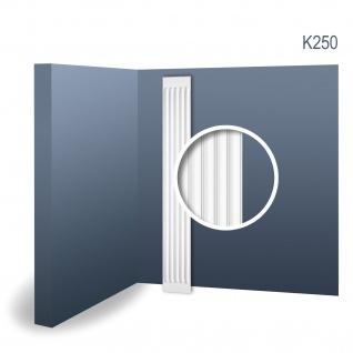 Pilaster Stuck Orac Dekor K250 LUXXUS Schaft Wand Dekor Element Hartschaum Material leicht und stabil weiß 2 Meter
