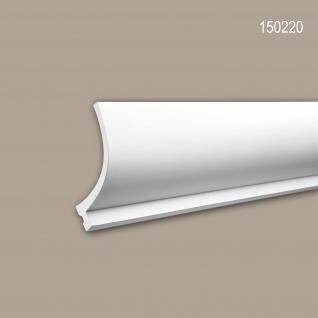 Eckleiste PROFHOME 150220 Zierleiste für indirekte Beleuchtung Stuckleiste Zeitloses Klassisches Design weiß 2 m