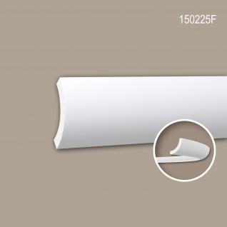 Eckleiste PROFHOME 150225F Stuckleiste Flexible Leiste Zierleiste Zeitloses Klassisches Design weiß 2 m
