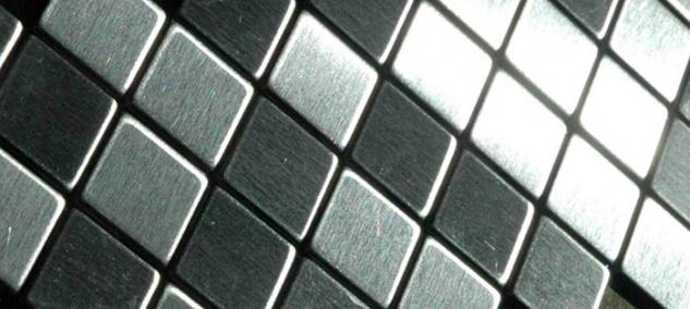 Mosaik Fliese massiv Metall Edelstahl marine gebürstet in grau 1, 6mm stark ALLOY Diamond-S-S-MB 0, 91 m2 - Vorschau 4