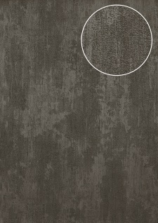 Uni Tapete Atlas TEM-5112-7 Vliestapete strukturiert in Spachteloptik schimmernd grau dunkel-grau basalt-grau grau-aluminium 7, 035 m2