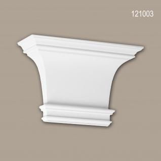 Pilaster Kapitell PROFHOME 121003 Zierelement Dorischer Stil weiß