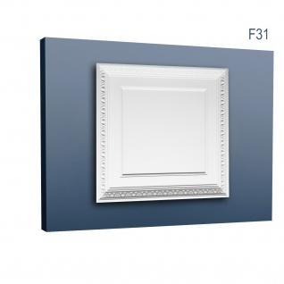 3D Wand Paneel für Tür oder Decke Orac Decor F31 LUXXUS Deckenplatte Zierelement aus stoßfestem Polyurethan | 60 x 60 cm