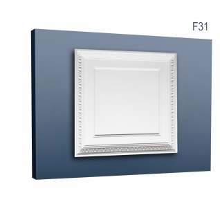 3D Wand Paneel für Tür oder Decke Orac Decor F31 LUXXUS Deckenplatte Zierelement aus stoßfestem Polyurethan 60 x 60 cm