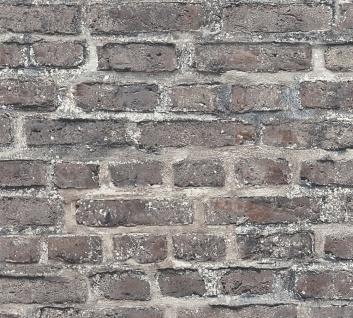 Stein Kacheln Tapete Profhome 361393-GU Vliestapete glatt in Steinoptik matt grau schwarz bunt 5, 33 m2